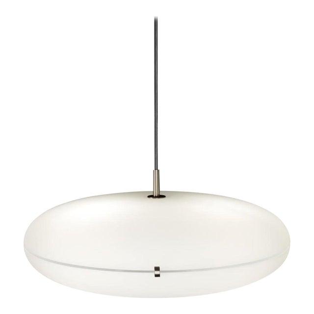 Gio Ponti Luna Suspension Lamp in Nickel For Sale