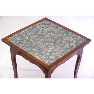 18th C. French Walnut Triangle Flip Top Games Table Preview