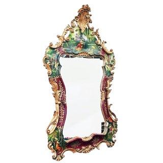 1920s Antique Venetian Painted Mirror