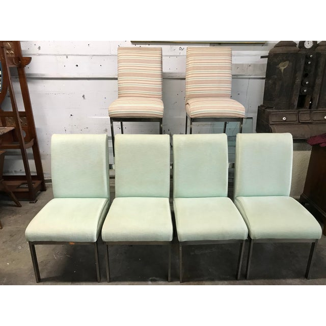 1980s Vintage Dia Upholstered Dining Chairs- Set of 6 For Sale - Image 12 of 12
