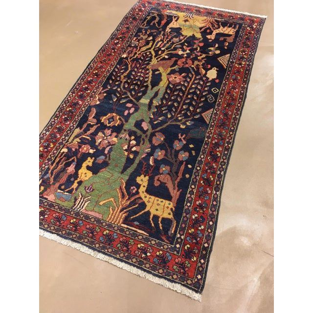 """Textile Antique Persian Lillihan Tree of Life Rug, 4'3"""" X 8'2"""" For Sale - Image 7 of 10"""