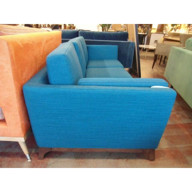 Contemporary Ceni Lagoon Blue 3 Seat Sofa For Sale - Image 3 of 4