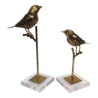 Birdies on Glass Stand-Pair