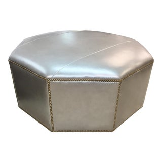 Century Furniture Cole Leather Ottoman For Sale