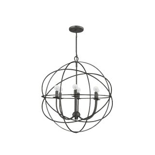 Crystorama Transitional Six Light Chandelier Orb Lighting For Sale