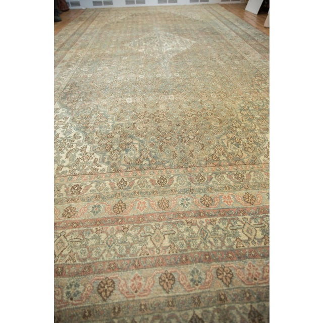 "Vintage Distressed Bibikabad Carpet - 9'5"" X 18'2"" For Sale - Image 11 of 13"