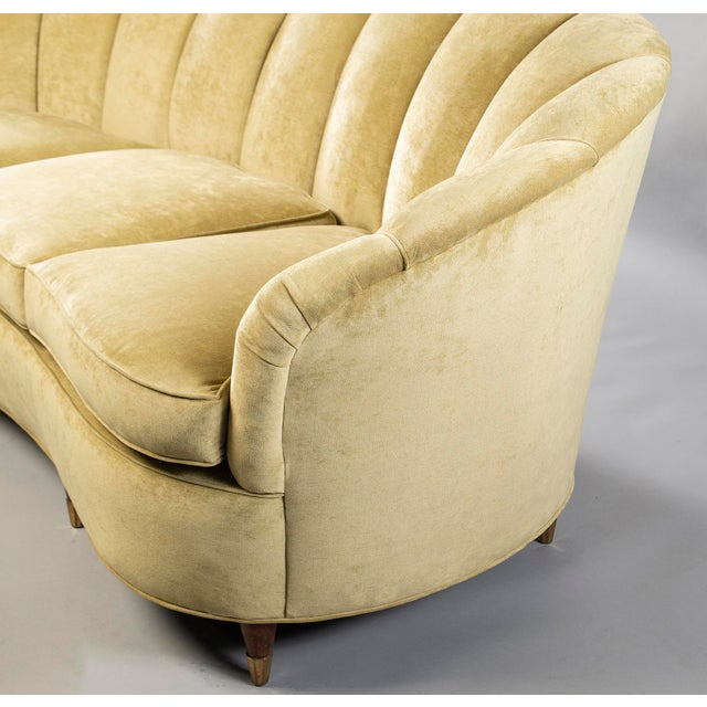 1930s Coquille Form Sofa and Pair of Chairs Attributed to Paolo Buffa For Sale - Image 5 of 13