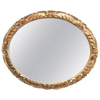 20th Century Italian Hand-Carved Giltwood Wall Mirror