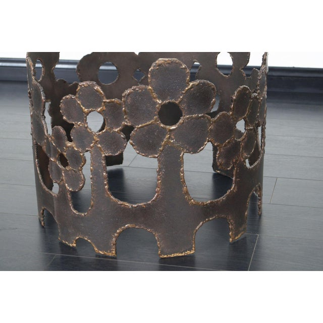 Vintage Bronze Coffee Table For Sale In Los Angeles - Image 6 of 10