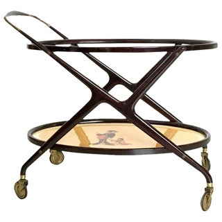 Italian Serving Cart in the style of Ico Parisi, 1950s For Sale
