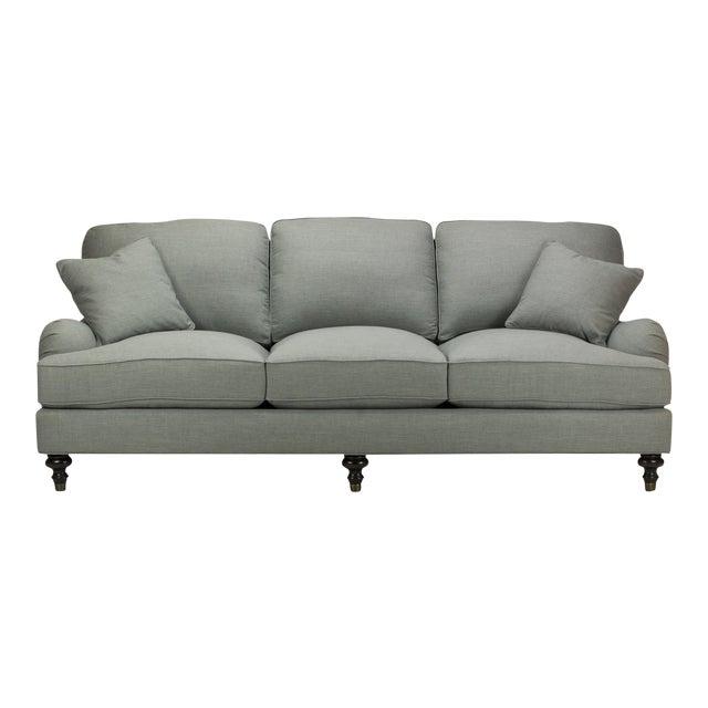 Spectra Home Traditional English Roll Arm Gray Sofa   Chairish