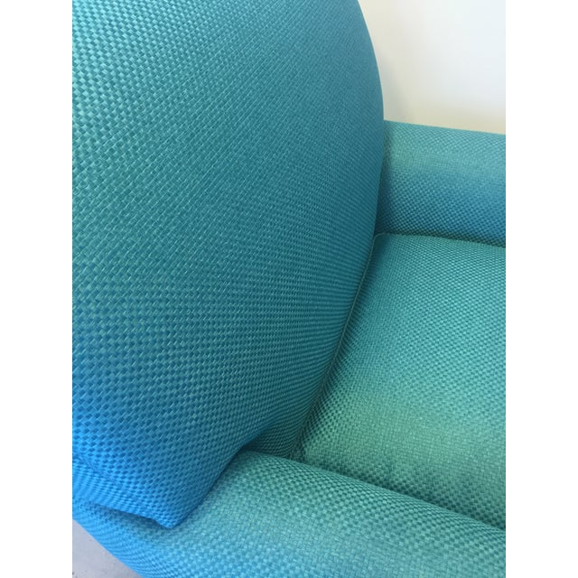 Turquoise Club Chairs - A Pair - Image 7 of 9