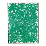 Image of John O'Hara Daisies, Veronese Green. Encaustic Painting For Sale
