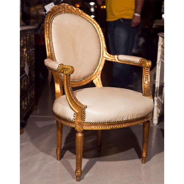 French Maison Jansen French Louis XIV Armchairs - A Pair For Sale - Image 3 of 11