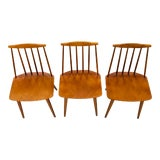 Image of 1970s Danish Modern Fdb Møbelfabrik Folke Palsson J77 Dining Chairs - Set of 3 For Sale