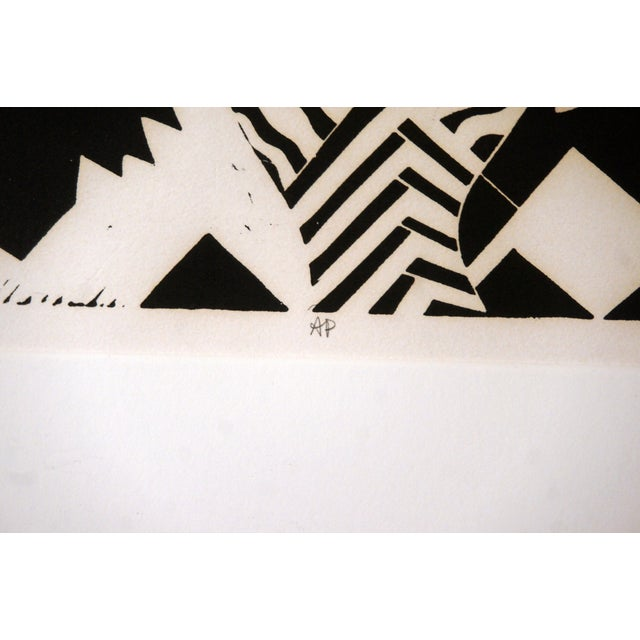 """""""Sanctuary"""" Artist Proof Linocut Print by Susie Ketchum For Sale In Washington DC - Image 6 of 9"""