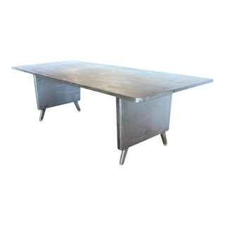 Machine Age Metal Desk/Dining Table For Sale