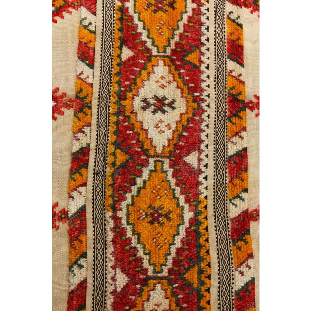 Mid 20th Century Moroccan Vintage Tribal Rug For Sale - Image 5 of 10