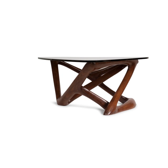 Brown Amorph Climax Coffee Table - Walnut Finish For Sale - Image 8 of 11