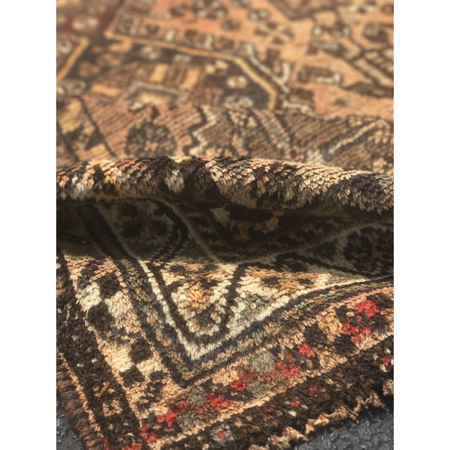 """Vintage Persian Shiraz Area 70-Year-Old Rug - 4'6"""" x 6'3"""" - Image 10 of 10"""