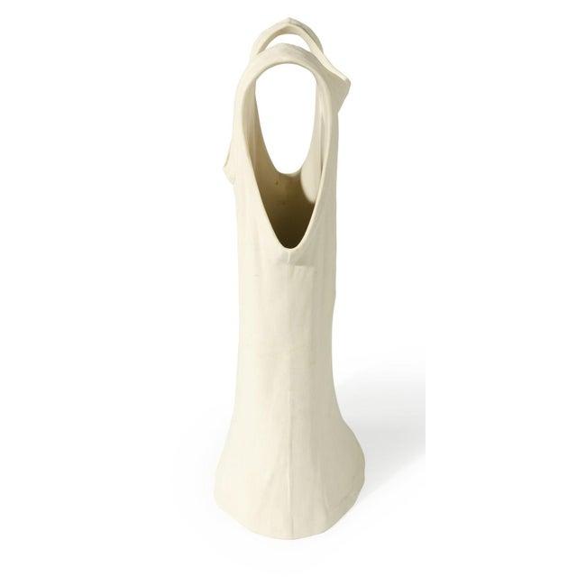 Vintage 1980 Pop Art Michael Harvey Attrib Modern Ceramic Tank Top Sculpture Vase For Sale - Image 4 of 5