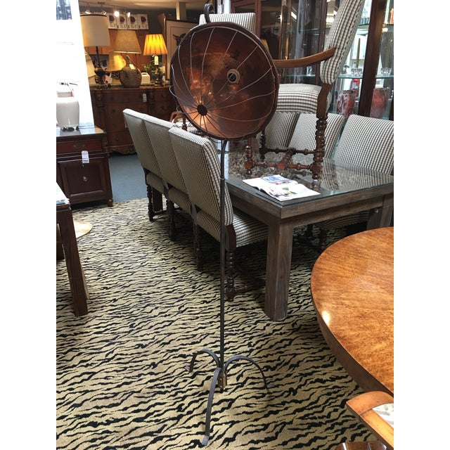 Vintage Copper & Iron Floor Lamp - Image 2 of 8