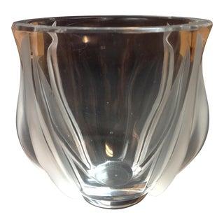 Sabino France Crystal Art Glass Vase