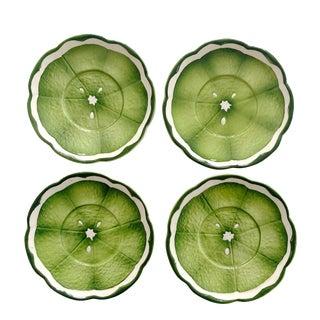 Mid 20th Century Lenwile Ardalt Artware Lime Citrus Saucers - Set of 4 For Sale