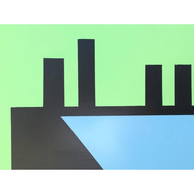 """Rick Orr """"Edge of Town #10"""" Abstract Painting by Listed Artist Rick Orr For Sale - Image 4 of 7"""