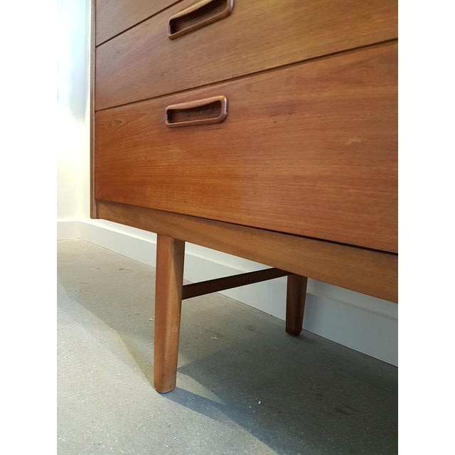 Teak Nathan Stamped English Clear Teak Sideboard, Buffet, Mid Century Modern, 1960s For Sale - Image 7 of 9