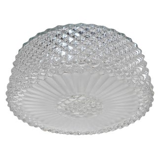 Single Textured Murano Glass Flush Mount / Sconce For Sale