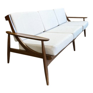 Beautiful Mid Century Three Seater Sofa For Sale