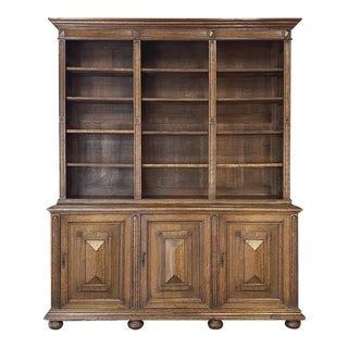 19th Century French Louis XIII Bookcase For Sale