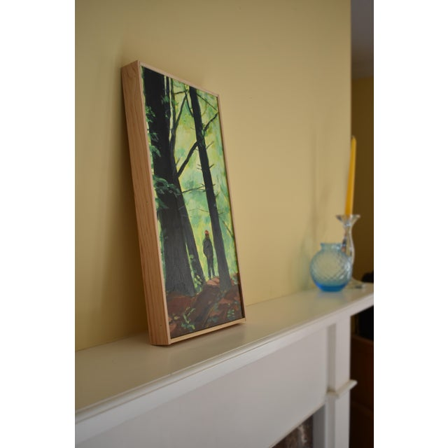 "Green Contemporary Painting, ""Entering the Forest"", by Stephen Remick For Sale - Image 8 of 10"