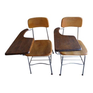 Heywood Wakefield Student Desks - A Pair For Sale
