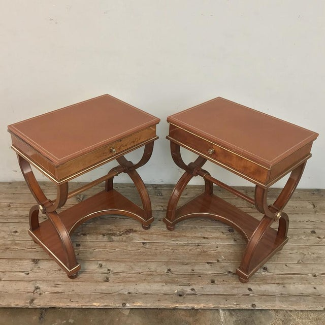 Pair Mid-Century French Charles X Side Tables For Sale - Image 4 of 13