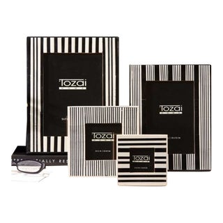 Tozai Striped Picture Frames - Set of 4 For Sale