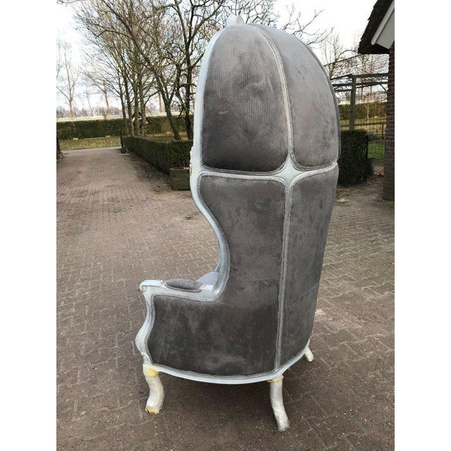 Tufted Throne Balloon Chair For Sale - Image 4 of 5