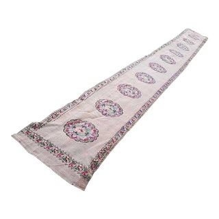Aubusson Tapestry Kilim Runner Rug for Home, Offices and Stairs, Vintage Boho Chic Tribal Handmade Cottage Decor Wool Kelim 2.2 X 18.4 Ft. For Sale