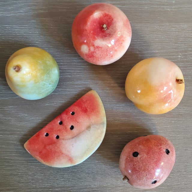 Italian Marble Fruit, 5 Pieces For Sale - Image 9 of 9