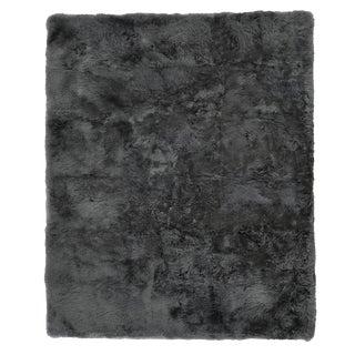 "Denis Shag Sheepskin Dark Gray Rug-11'6""x14'6"" For Sale"