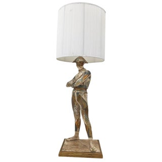Antique Monumental Harlequin St. Marceaux Plaster Lamp by Marbro For Sale