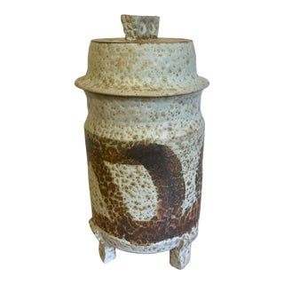 Mid-Century Studio Pottery Lidded Vessel For Sale