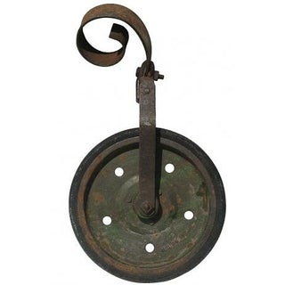 Industrial Vintage Cast Iron Wheel Assembly