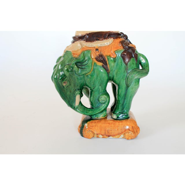Hollywood Regency Vintage Elephant Figure Vase For Sale - Image 3 of 11