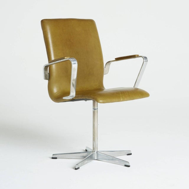 Arne Jacobsen Leather Oxford Chair - Image 2 of 11