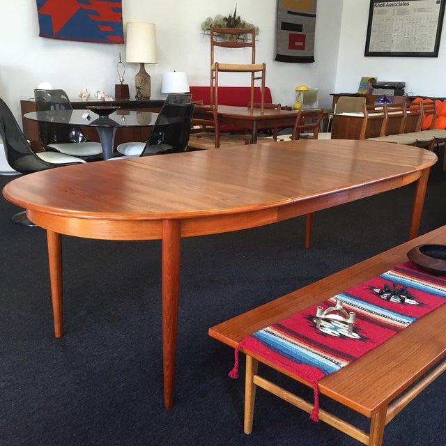 Danish Teak Dining Table - Image 5 of 9