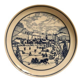 "Vintage Hutschenreuther Peroth German ""Alzeyer Weihnacht"" Limited Edition Collector Plate For Sale"
