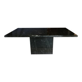 Italian Black Marble Dining Table For Sale