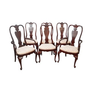 Ethan Allen Georgian Court Solid Cherry Queen Anne Dining Chairs - Set of 6
